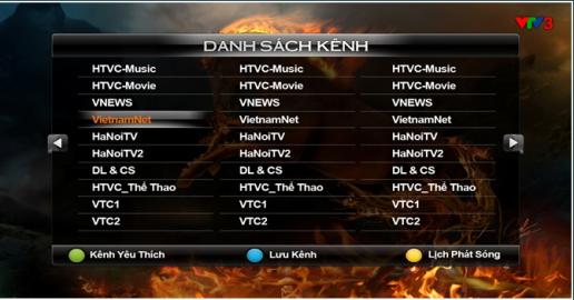 Danh sách kênh truyền hình FPT Play HD